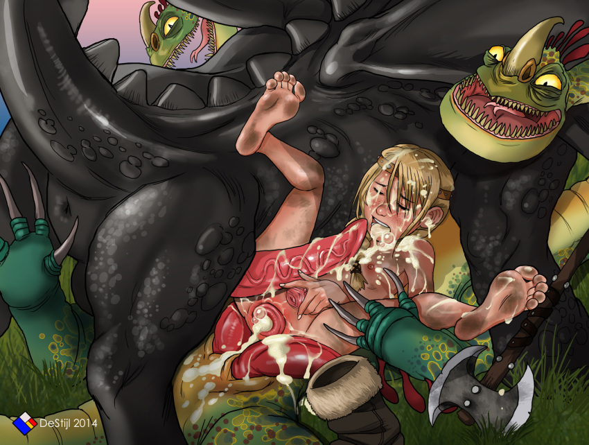 your hiccup dragon how sex train to and astrid Tsu my hero academia fanart