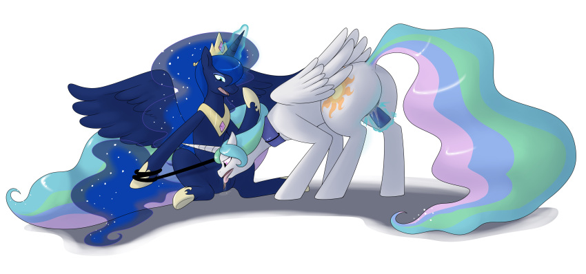 mlp luna celestia and Margaret moonlight no more heroes