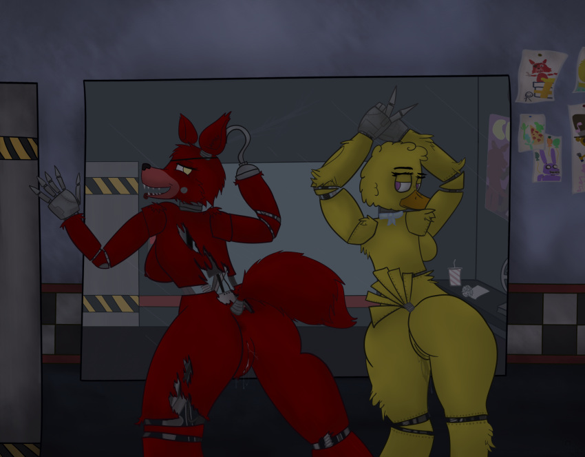 freddy's five nights girl foxy at Pokemon sun and moon swimmers